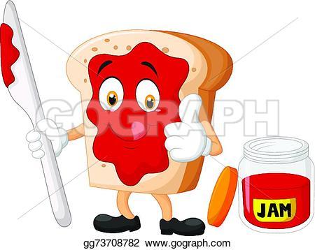 Drawn jam bread slice #14