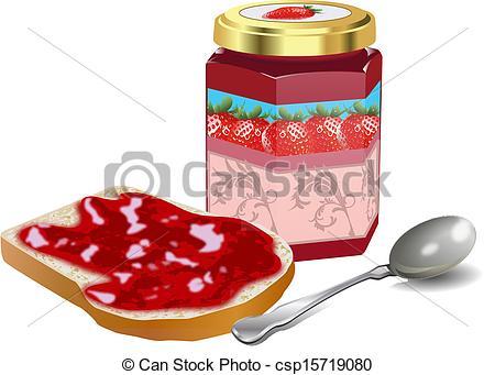 Drawn jam bread slice #15