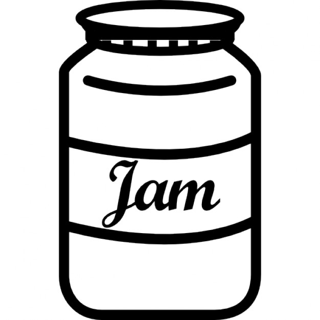 Jam clipart jam jar Label with with jar Icons