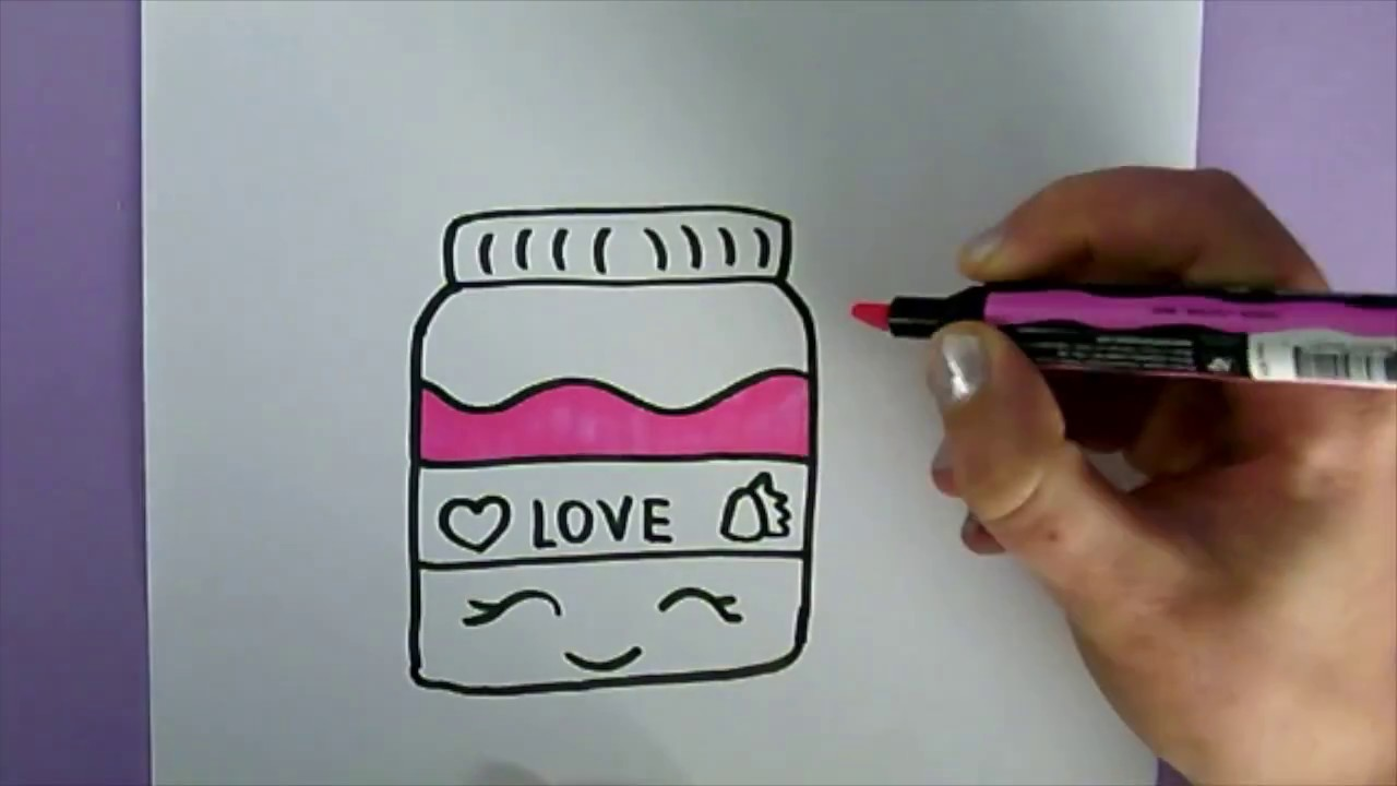 Drawn jam JAR : YouTube JAM FOOD