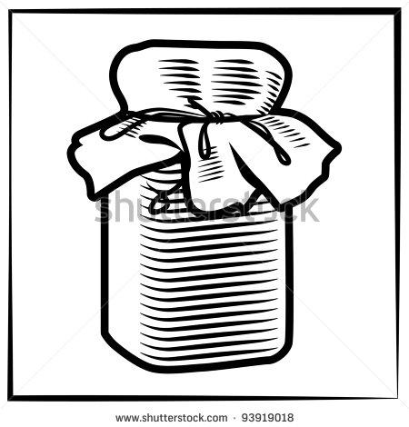 Drawn jam Jam of engraving a jar