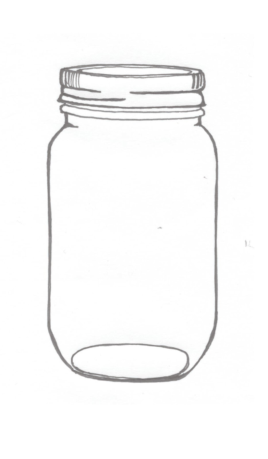 Drawn jar Illustrations mason ink drawing An