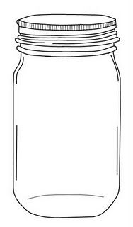 Drawn jar Invitations by Bridal (jug from