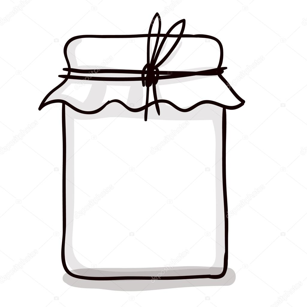Drawn jar # Vector Stock drawn paper