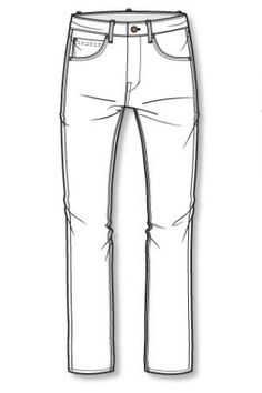 Drawn jeans Trouser Jeans Style on …
