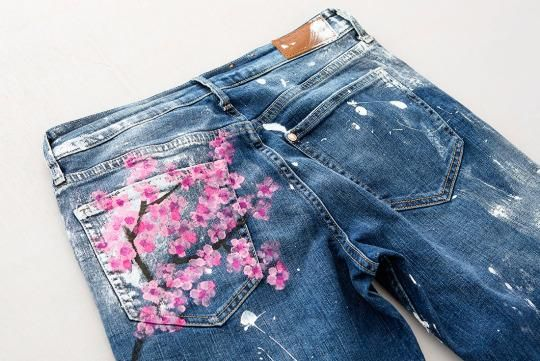 Drawn jeans cherry blossom Jeans photos View Blake How