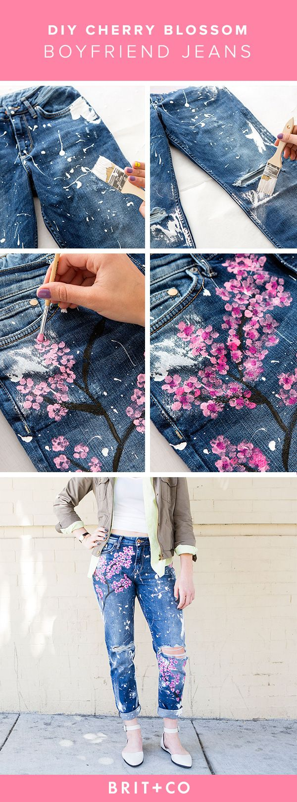 Drawn jeans cherry blossom Acrylic to How $500