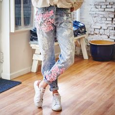 Drawn jeans cherry blossom To us PRESERVE Boyfriend Rialto