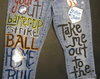 Drawn jeans custom Sned ballgame the out jeans