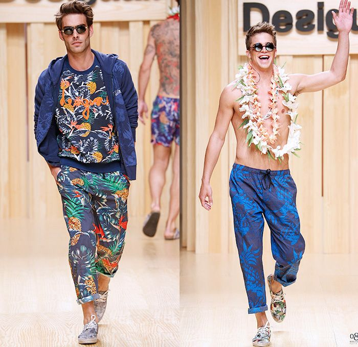 Drawn jeans tropical Catwalk Mens Summer 080 Looks