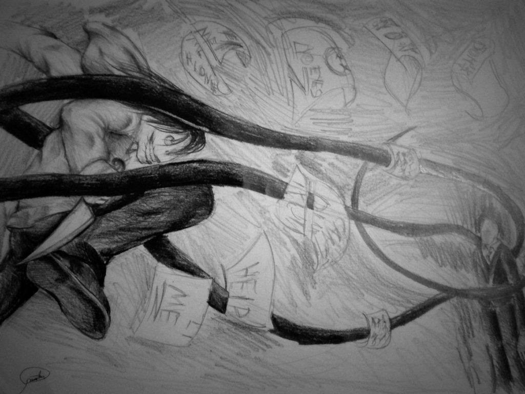 Drawn slenderman jeff the killer Killer Jeff Slenderman vs by
