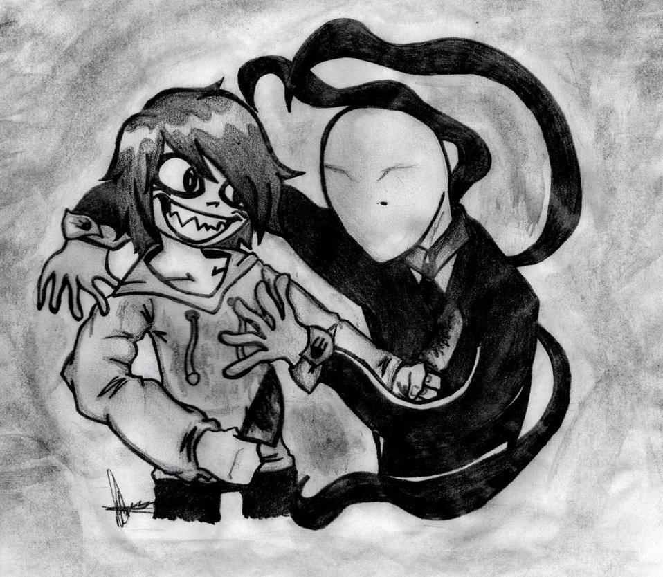Drawn slenderman jeff the killer Slenderman Killer Jeff The by