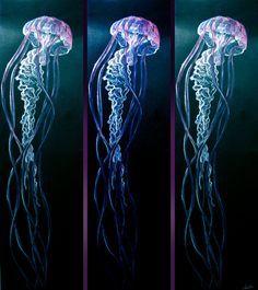 Drawn jellyfish acrylic painting On DrawingJellyfish long Im