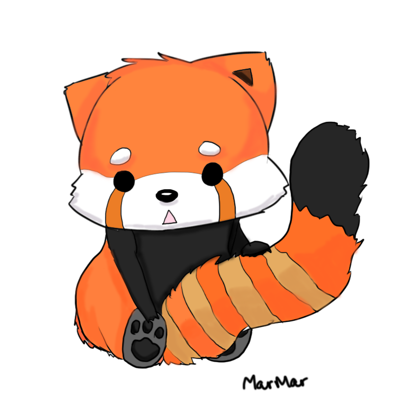 Drawn red panda cartoon Panda Red Panda EchoHearts Red