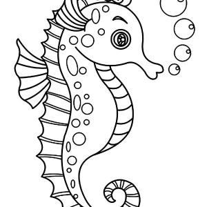 Drawn seahorse vector Seahorse of Page Seahorse Drawing