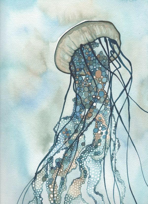 Drawn jellies felted Behance via Jellyfish JELLYFISH Phillips