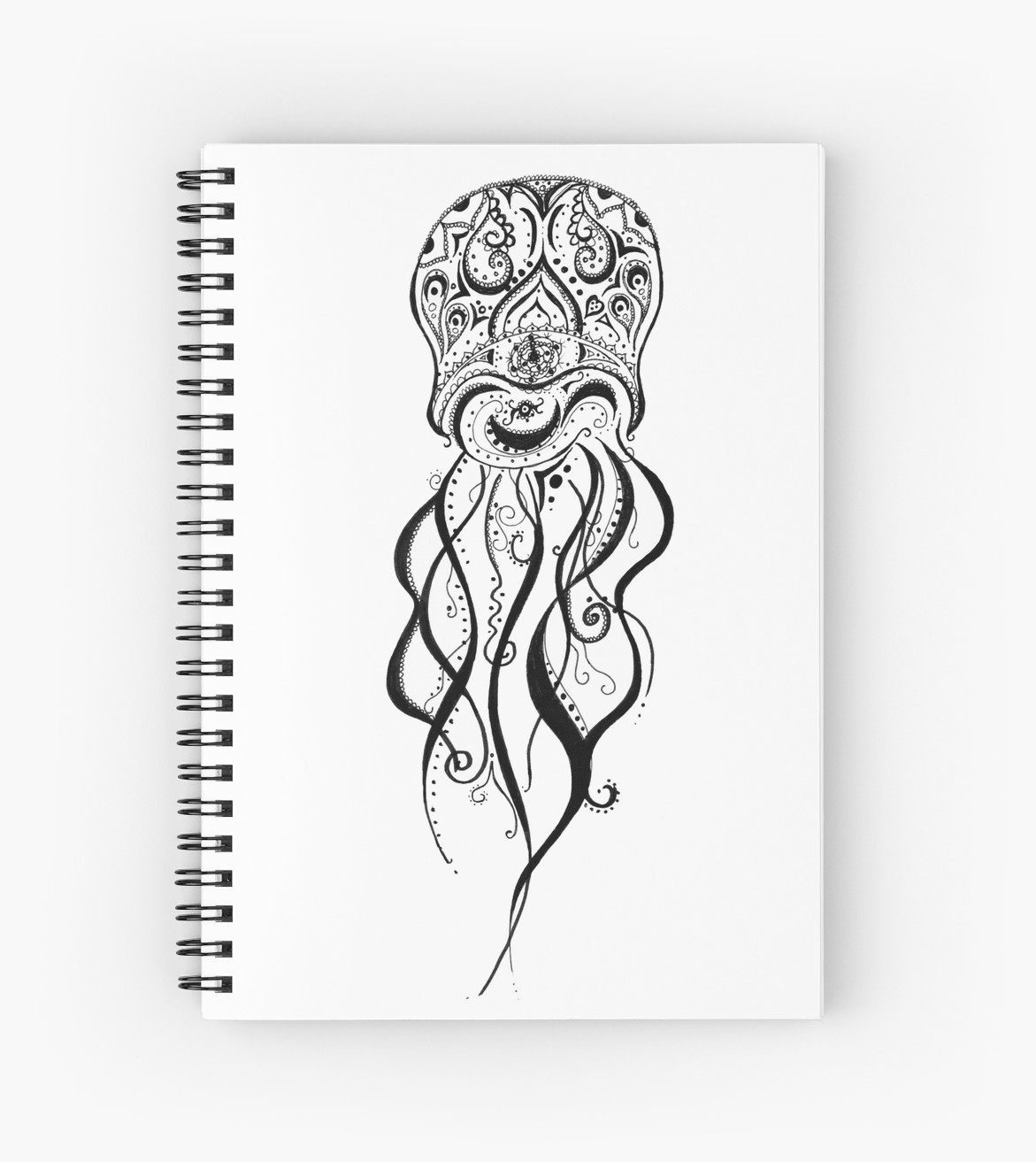 Drawn jellies mandala Jellyfish by Notebooks Jellyfish Mandala