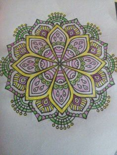 Drawn jellies mandala Mandala and drawings stuff Pinterest