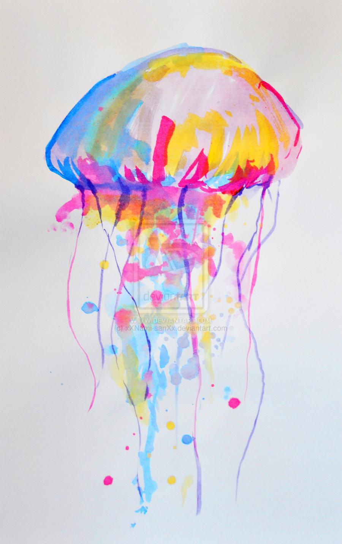 Drawn jellyfish acrylic painting Pinterest Painting magic Best