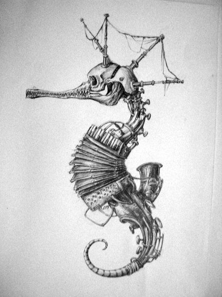 Drawn seahorse vector Deviantart com ValeRee23 25+ by