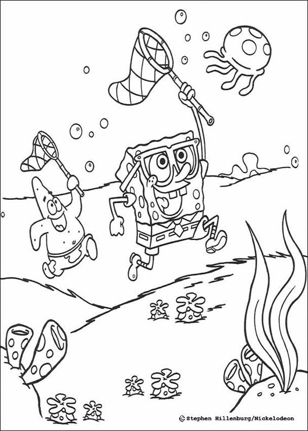 Drawn jellyfish spongebob Catching page Bob jellyfish a