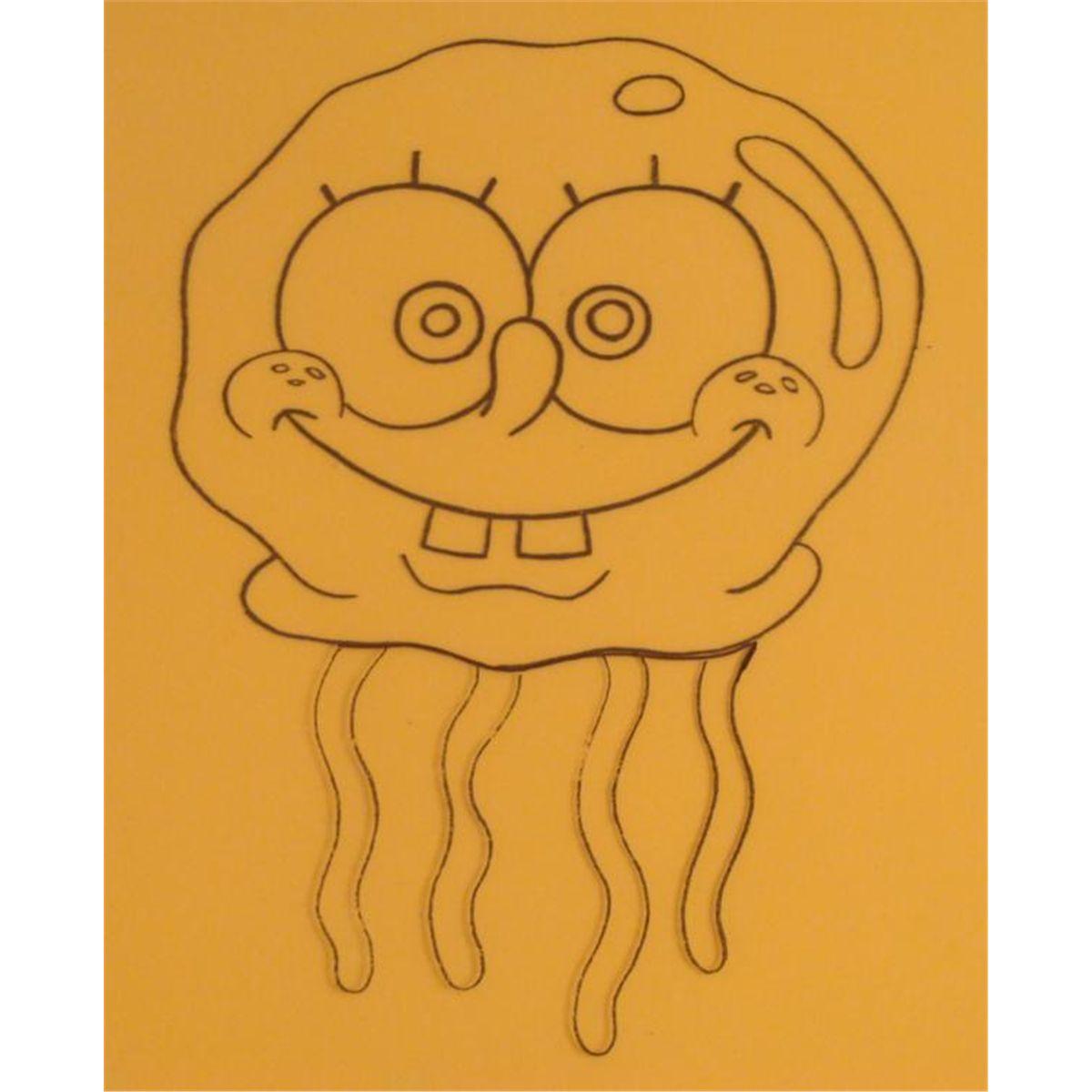 Drawn jellyfish spongebob SpongeBob Art Jellyfish Original Orange