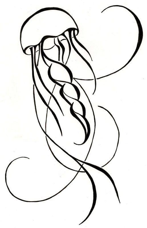 Drawn jellyfish Best on Jellyfish Drawing Jellyfish
