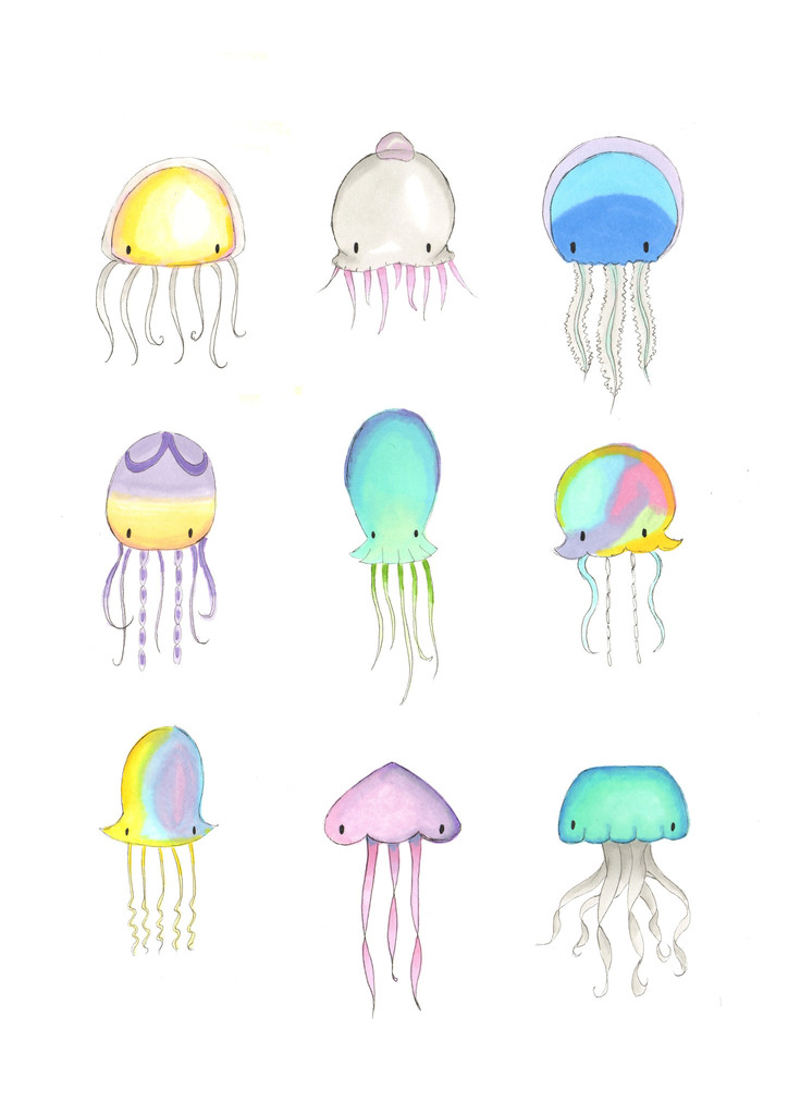 Drawn jellyfish cute baby  9 cute collection Jellyfish