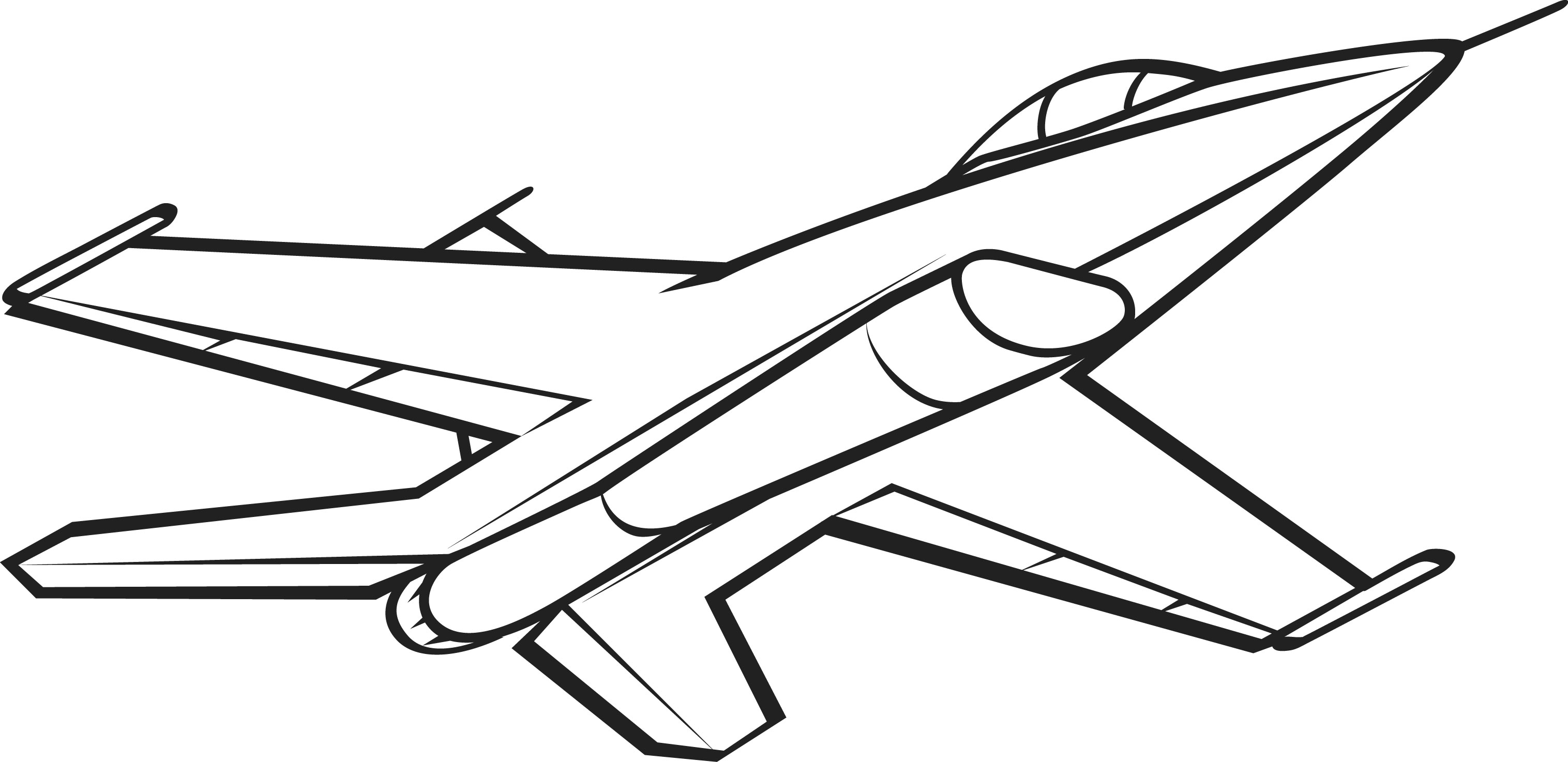 Drawn jet Coloring coloring Picture Jet White