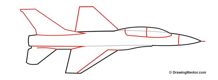 Drawn castle airplane #3