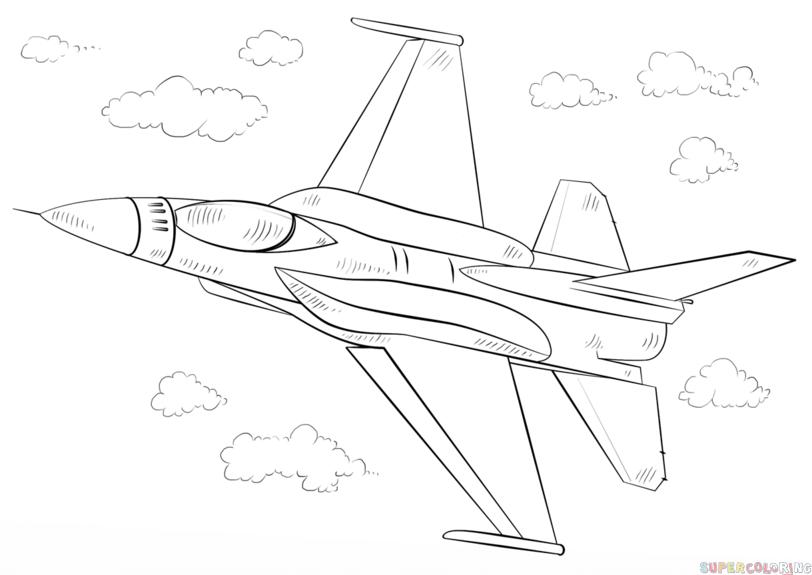 Drawn jet Tutorials Drawing step jet draw
