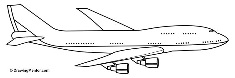 Drawn jet Tutorial Plane to a a