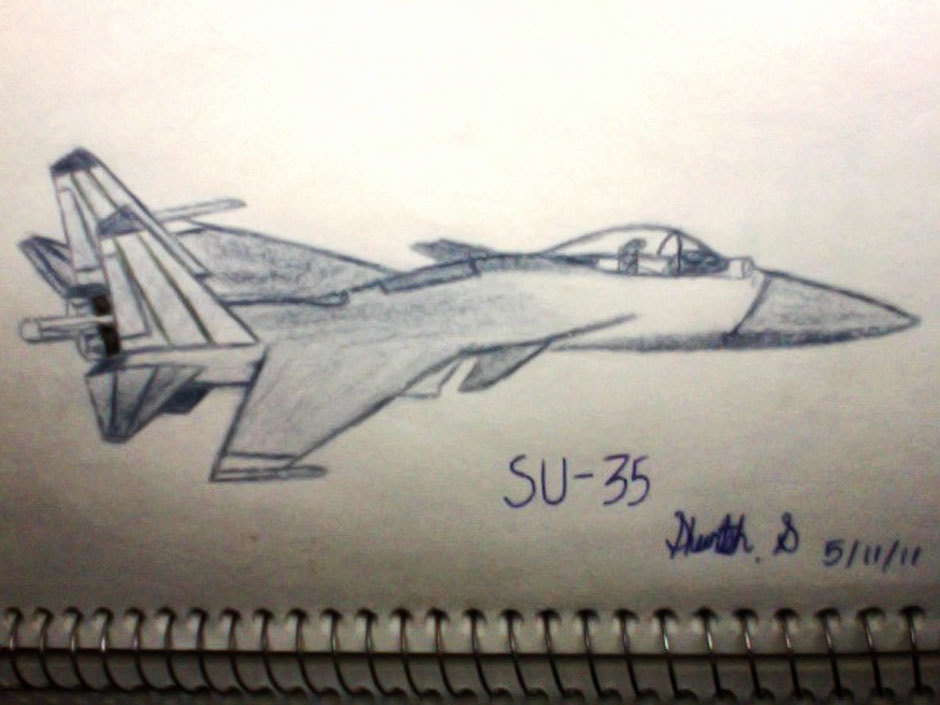 Drawn jet air force Pencil Fighters Indian 30 Aircrafts