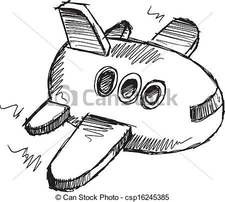 Drawn jet doodle Jet Vector Jumbo  Art