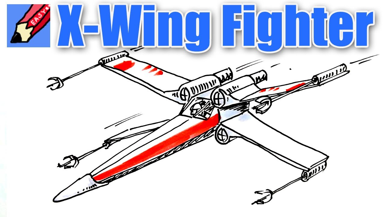 Drawn wars plane Fighter Real a X wing