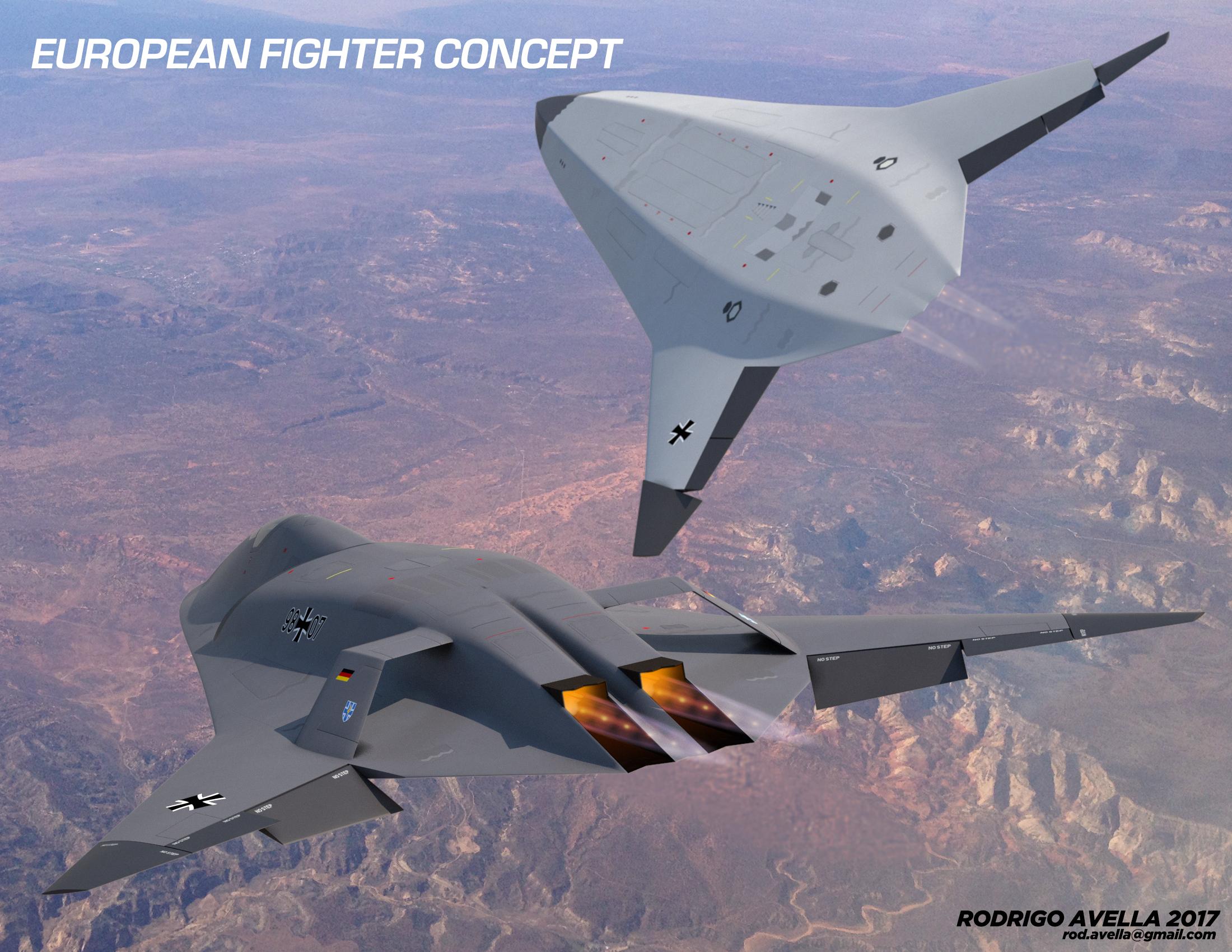 Drawn jet military Dominance next European Concept generation