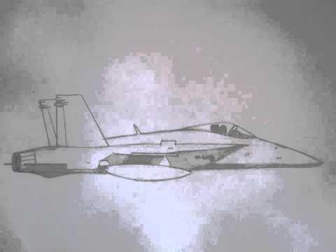 Drawn jet military  vehicles: draw Hornet YouTube