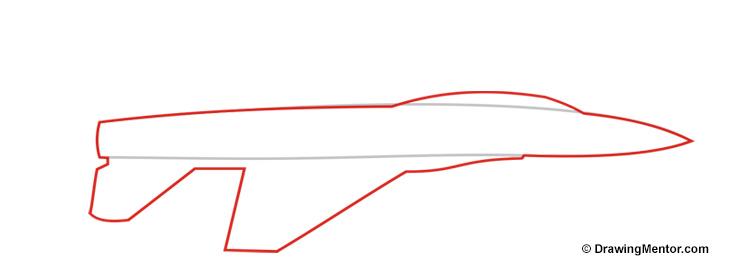Drawn jet simple Jet a to how Draw