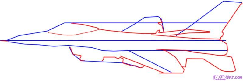 Drawn jet simple 2 a step by to