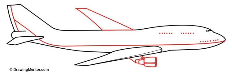 Drawn castle airplane #6