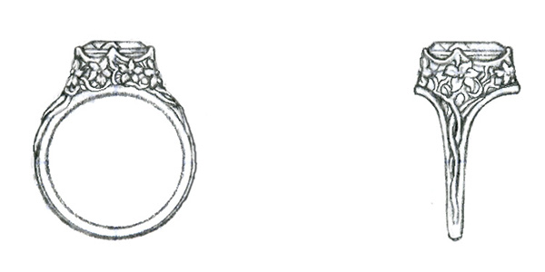 Drawn jewelry Of designs Jewelry objects Technical