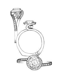 Drawn jewelry diamond ring Engagement new #4 diamond Embrace