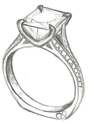 Drawn jewelry engagement ring Mark princess Design Schneider ring