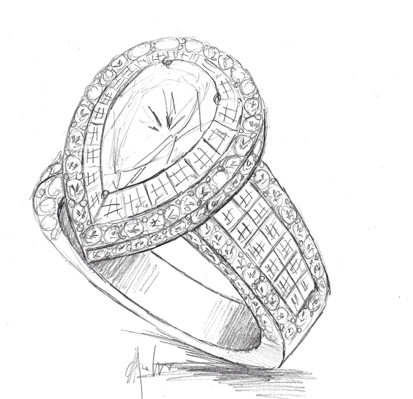 Drawn jewelry engagement ring Free Drawing  Ring Engagement