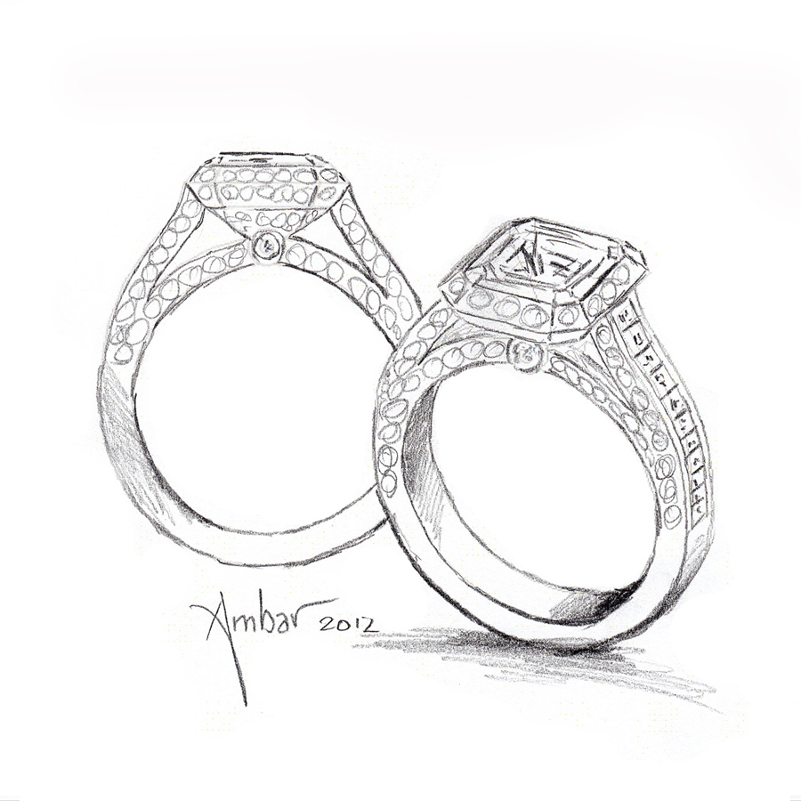 Drawn jewelry engagement ring Ring Drawing Cleo Cosmic Hand