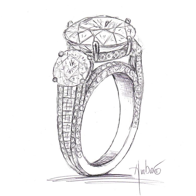 Drawn jewelry Blaze Bez Drawings shank ring