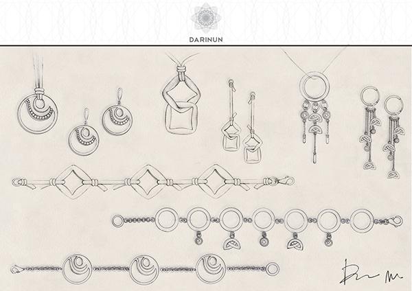 Drawn jewelry jewellery On Hand Sketches Jewellery Behance