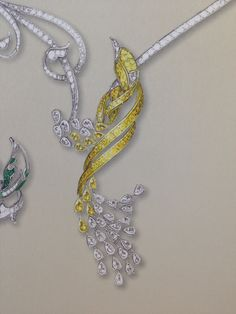 Drawn jewelry jewellery Winston ring SketchesRendering Ring JewelleryJewellery