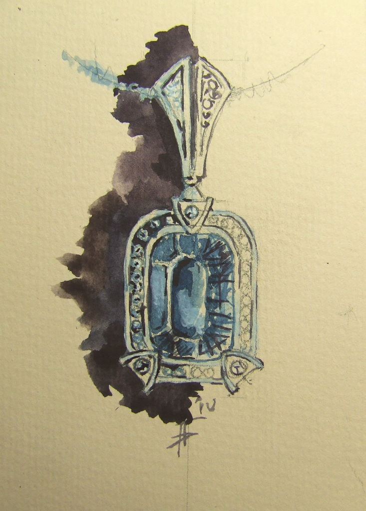 Drawn jewelry jewellery Jewellery DesignsSketchbooksWatercolourDrawingJewelry Jewellery illustration pendant