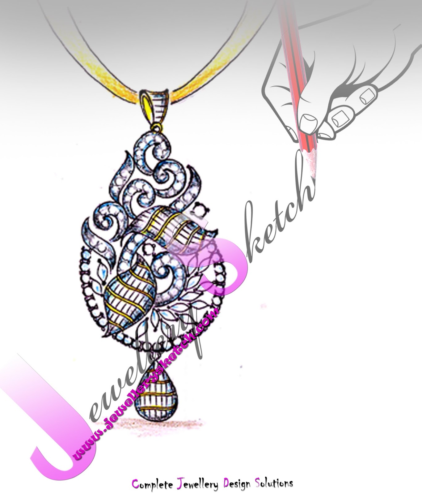 Drawn jewelry jewelry design : i jewellery January #trendyjewellerydesigns